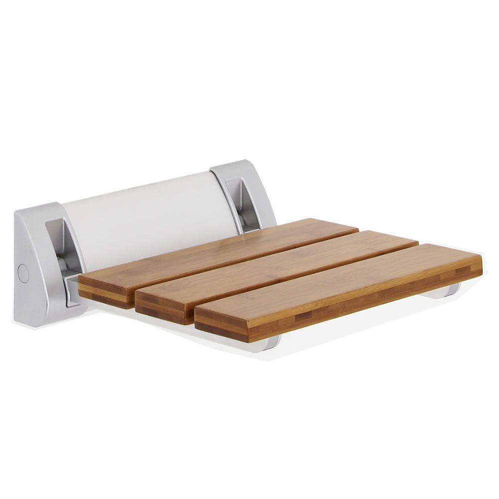 New Modern Bathroom Folding Shower Seat Wall Mount Bath ...