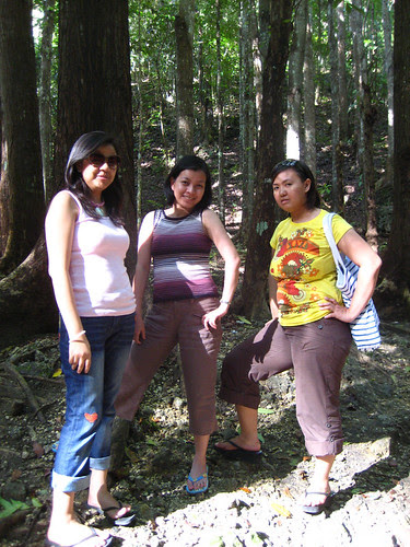 Posing at Mahogany Man-Made Forest
