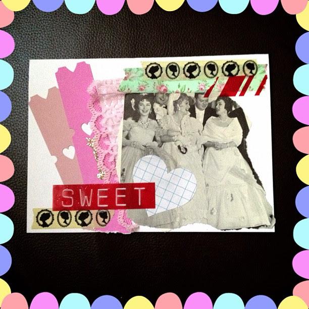 The last valentine I received via #handmadeval  #card #snailmail #valentine #hearts