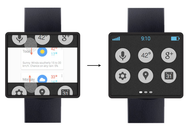 Posible diseño de Google Smartwatch
