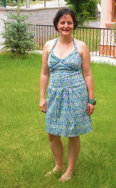 50ler retro yaz elbisesi