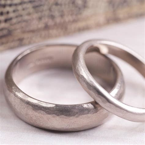 simple handmade mens wedding band by alison moore designs