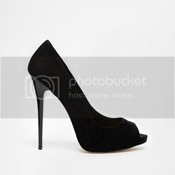 Peep Toe High Heels black