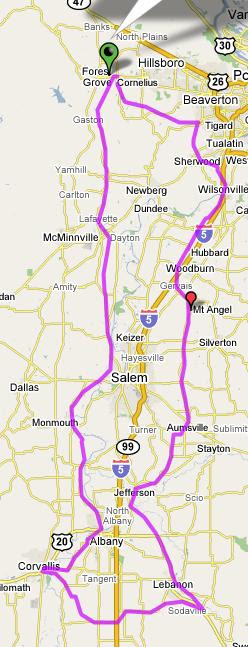 Our Fleche Route Map