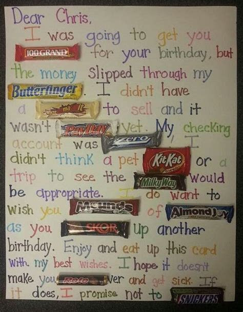 Candy Birthday Cards on Pinterest   Candy Card Birthday