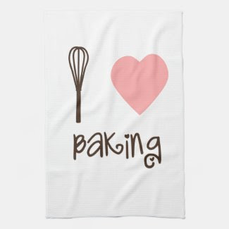 I Heart Baking Tea Towel kitchentowel