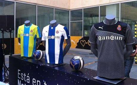 Estas son las tres nuevas camisetas del Espanyol