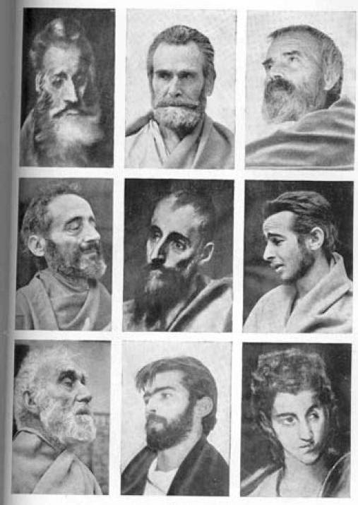 Comparación entre los cuadros de El Greco y algunos dementes de El Nuncio (Toledo) en 1955 para el libro de Gregorio Marañón