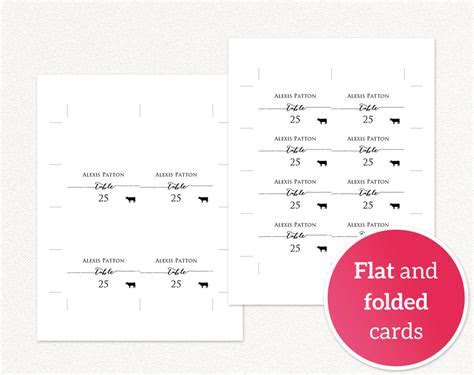 Place Cards with Meal Options · Wedding Templates and