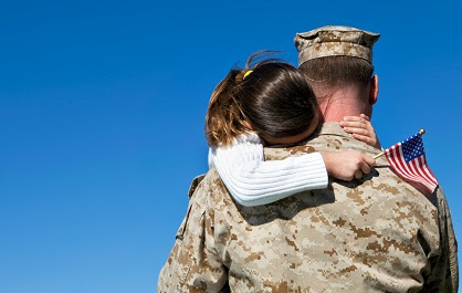 Military dad with daughter 1-22-13