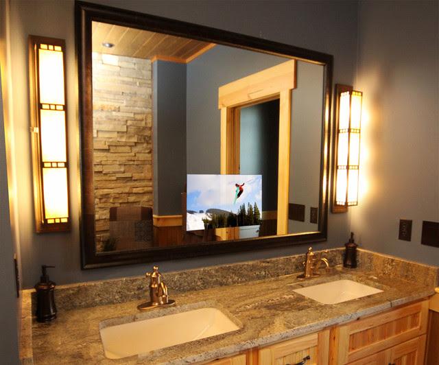 Luxury Lodge Master Bathroom - bathroom - by Seura
