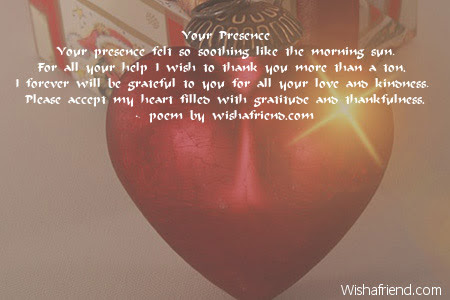 Your Presence Thank You Poem