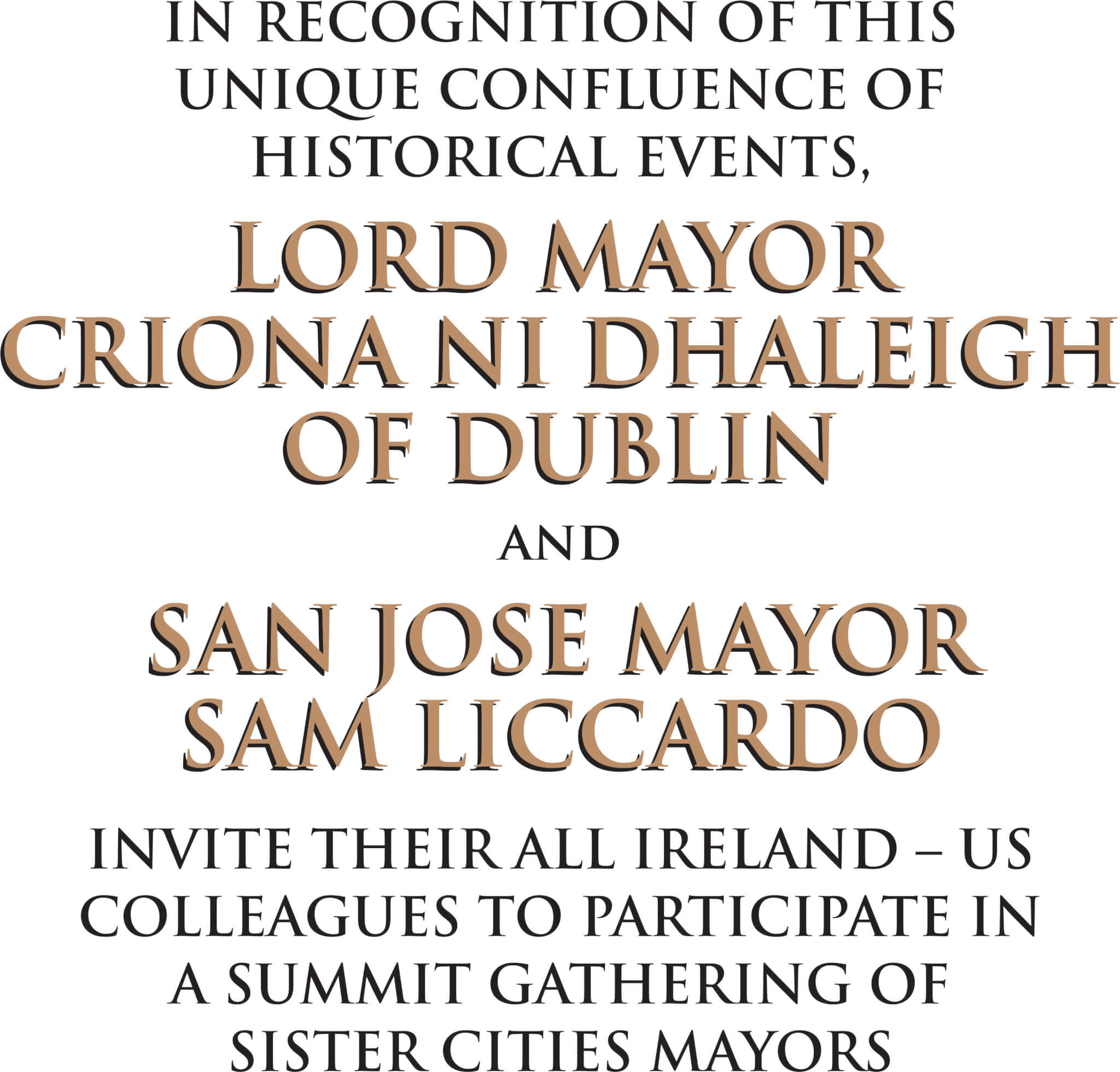 2016 US All Ireland Sister Cities Mayor s Summit