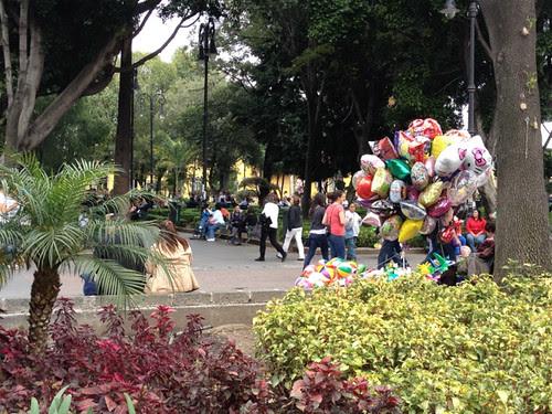 Mexico City  Coyoacan plaza
