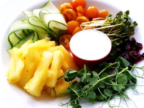 Salad with Asian Yogurt Dressing