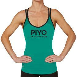 piyo instructor jessica crossback tank workout clothes