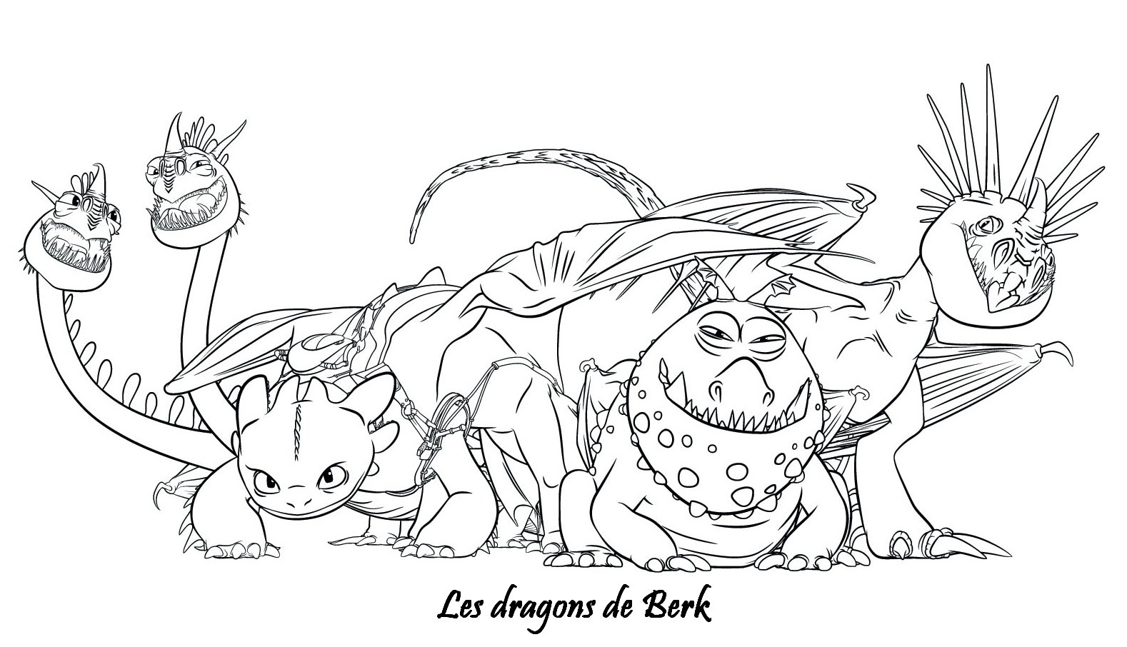 Coloriage A Imprimer Dragons 2 Les Dragons De Berk Gratuit Et Colorier