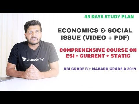 How to Cover Economics and Social Issue in 45 Days - RBI Grade B 2019