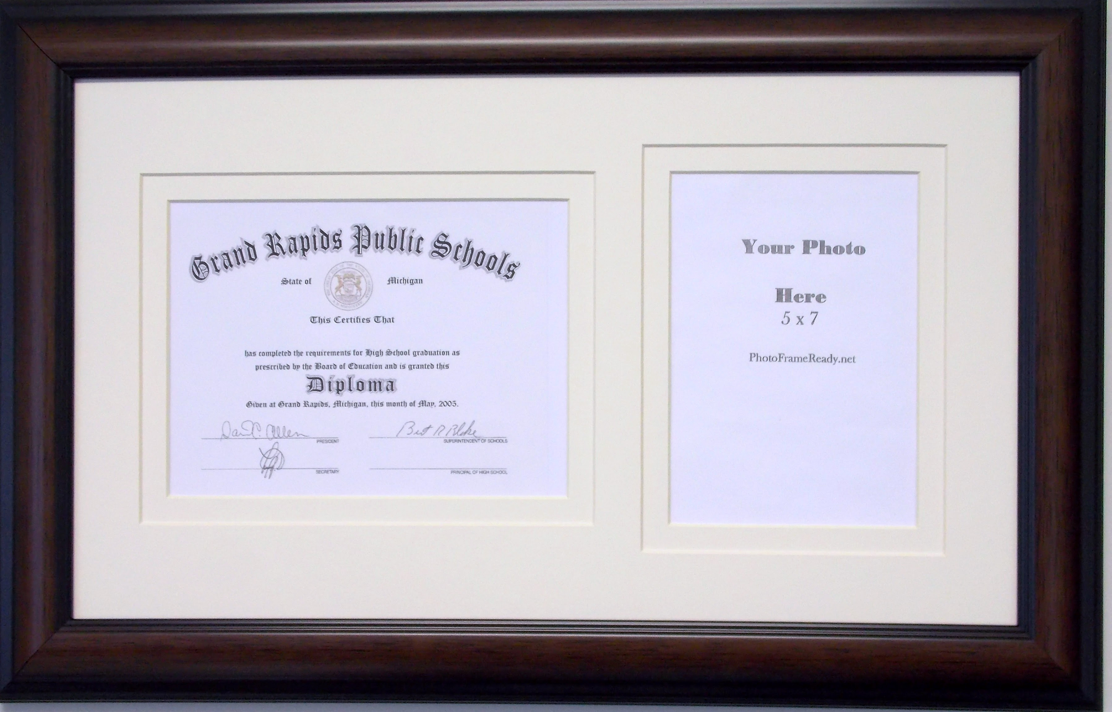 Graduation Diploma Certificate Photo Frame Matted Holds 6 X 8