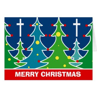 Beautiful Christmas Card with Trees