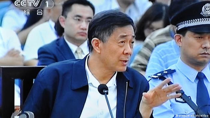 --FILE--In this TV grab taken on 22 September 2013, Bo Xilai, former Secretary of the Chongqing Municipal Committee of the Communist Party of China (CPC), is seen during a trial at the Jinan Intermediate Peoples Court in Jinan city, east Chinas Shandong province. A Chinese court on Friday (25 October 2013) rejected the appeal of fallen politician Bo Xilai against his conviction and confirmed his life sentence, state media reported, a ruling likely to seal his fate as authorities look to close a damaging scandal. The Shandong high court rejected the appeal and upheld the first instance life sentence verdict on Bo Xilais bribery, embezzlement and abuse of power case, the official Xinhua news agency said on a verified account on Sina Weibo, a Chinese equivalent of Twitter.