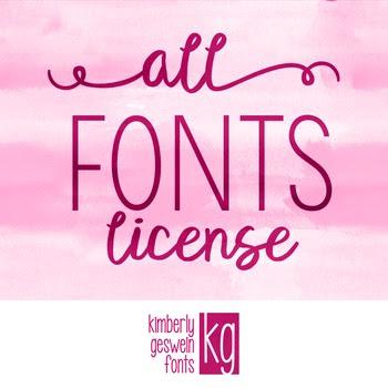 Commercial Font License- ALL FONTS