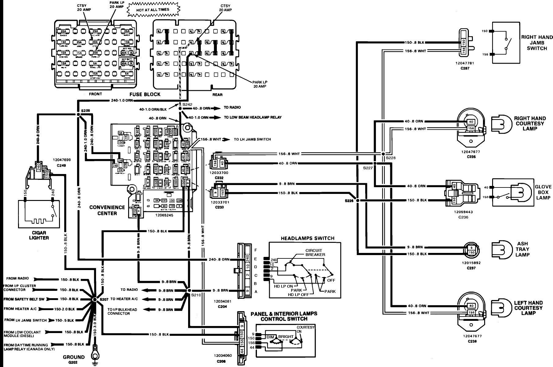 Fuse Panel Diagram For 1991 Chevrolet 1500 350 - Wiring Diagram | 1990 Gmc Sierra Heater Wire Diagram |  | cars-trucks24.blogspot.com