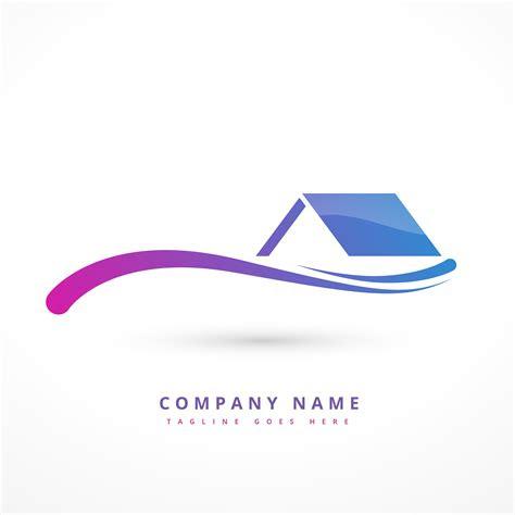 house  home company logo design illustration