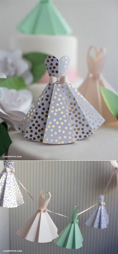 Paper Dress DIY Wedding Decorations   Make * Paper   DIY