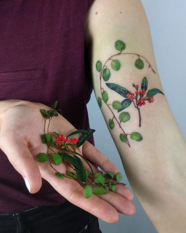 Random Plants Tattoo By Ritkittattoo