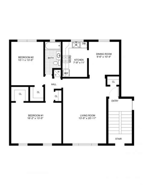 simple house floor plan  measurements june