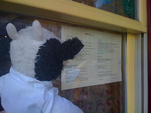 Let's check the menu. Mmm, good stuff!