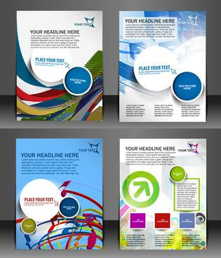 template flyers corel draw  vector
