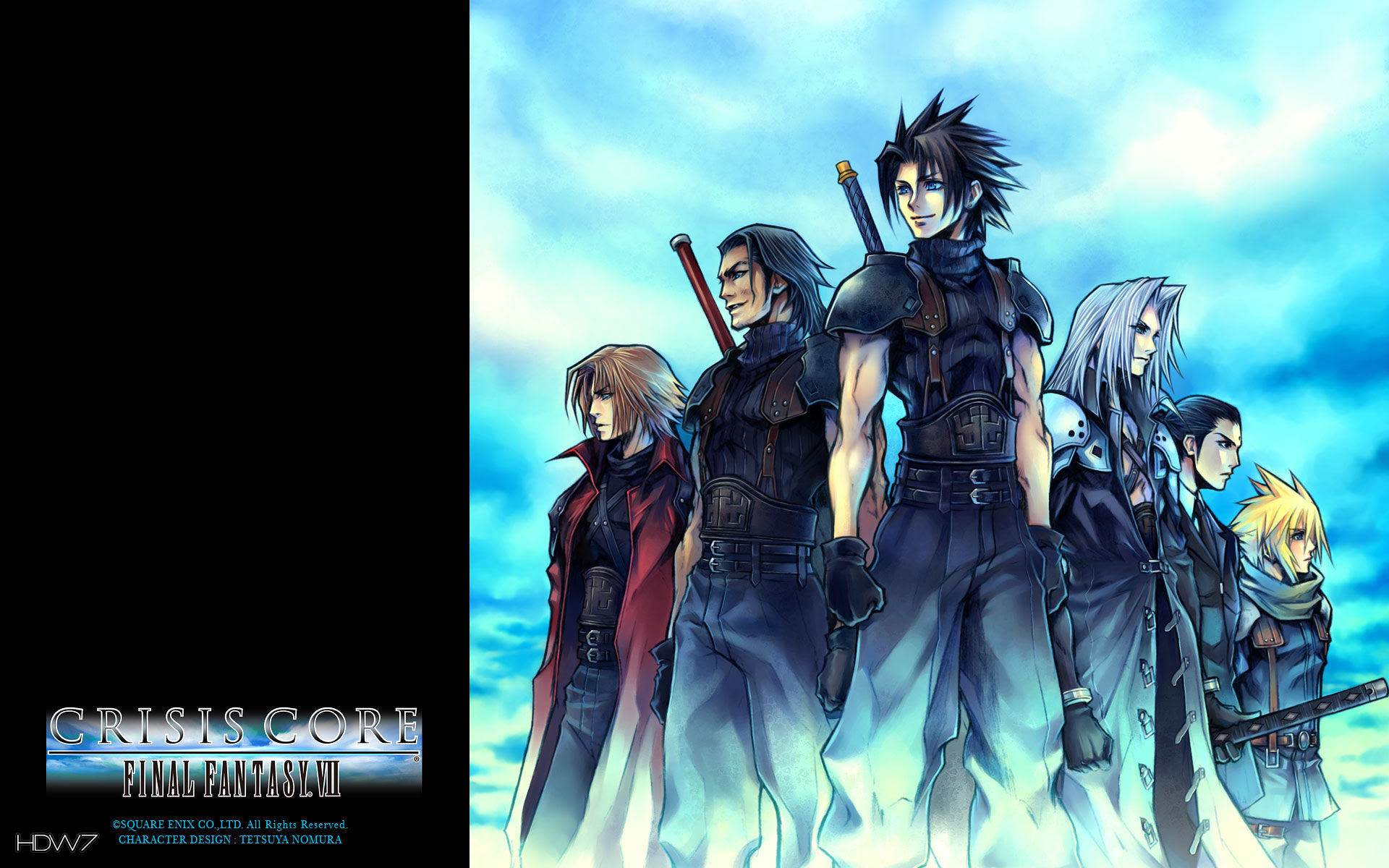 Crisis Core Final Fantasy Vii Jp Art Widescreen Wallpaper Hd