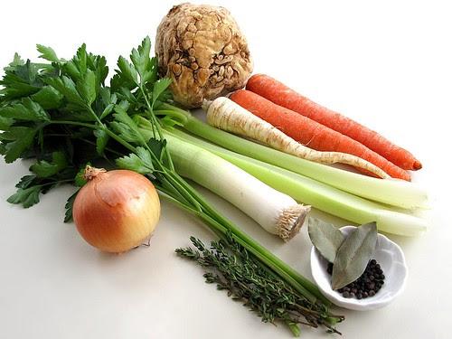 chicken stock vegetables
