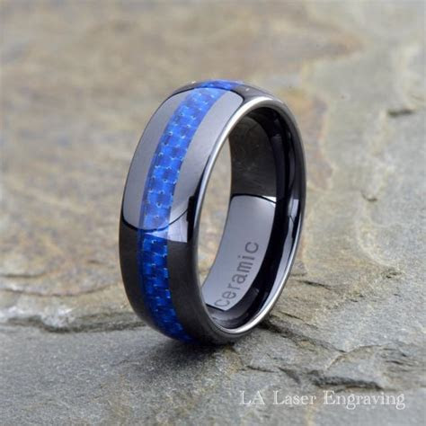 Ceramic Wedding Band, Mens Ring, Mens Wedding Bands