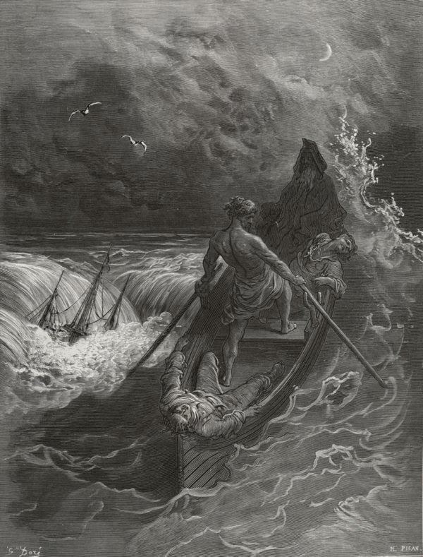 The Pilot - from The Rime of the Ancient Mariner - by Gustave Dore (Pisan, engraver)