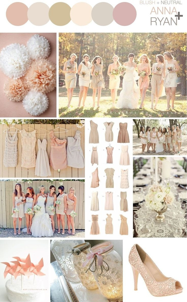 wedding colors blush | Blush + Neutral Color Scheme - Wedding | Wedding Ideas