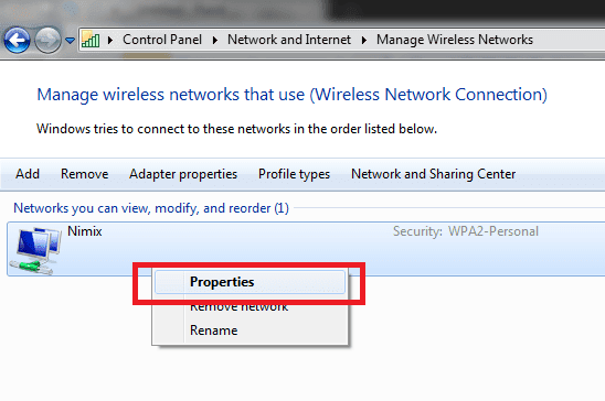 wifi properties