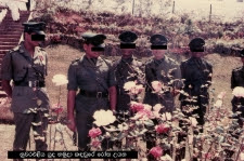 Officers in Rose Garden