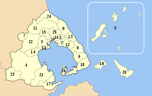 Magnesia municipalities numbered