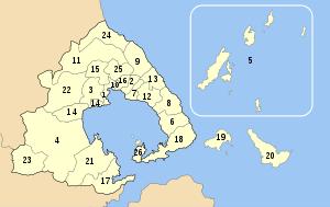 Magnesia municipalities numbered