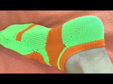 Sapatilha para Pilates, feito na máquina de tricô, edilene 006