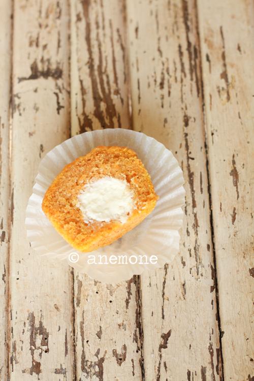 Muffins alla zucca ripieni