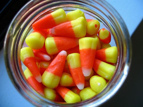Candy Corn in a Jelly Jar