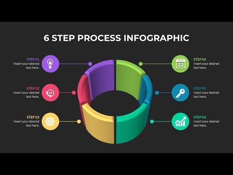 Cara Membuat Animasi Slide 6 Step Process Infographic di Powerpoint