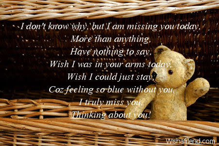 I Dont Know Why But I Thinking Of You Message