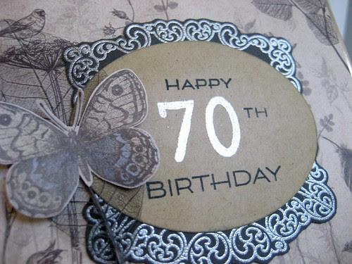 70th birthday label
