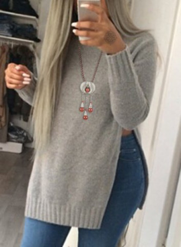 Sweater Grey Fashion Style Trendy Cool Swag Cozy