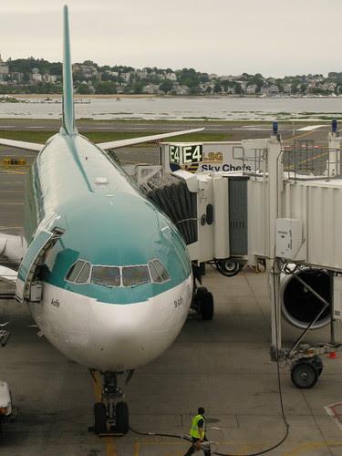 Our plane @ Boston Logan